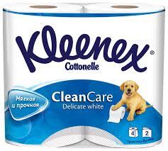 <b>Туалетная бумага Kleenex Clean</b> care Delicate white двухслойная ...