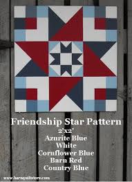 Painted Wood Barn Quilt Friendship Star by TheBarnQuiltStore