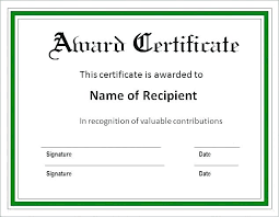 Templates For Certificates Printable Blank Award Certificates Ericremboldt Com