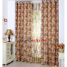 extra thick polyester vintage country style fl curtains loading zoom
