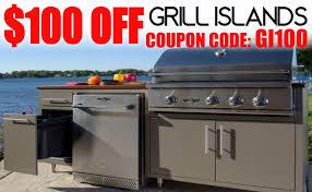challenger designs 89 coastal built in grill outdoor kitchen island