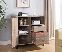 storage unit office. Amazon.com : Smart Home Dark Taupe \u0026 Black Attwell File Cabinet Storage Unit Office