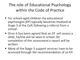th th presenter joe duffy senior  the role of educational psychology in the code of practice  for school aged children