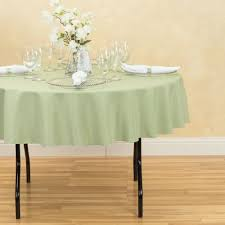 70 in round polyester tablecloth