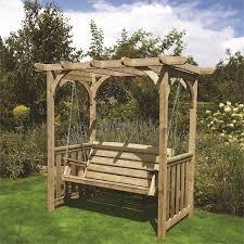 homebase uk wooden garden swing