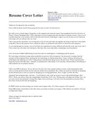 Engineering Cover Letter Examples For Resume Engineering Cover Letter Sample Tomyumtumweb 42