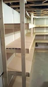 basement storage shelves plans free build homemade shelving units wooden room ideas laundry shelvi