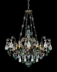 renaissance rock crystal 8 light 110v chandelier in heirloom gold with amethyst and black diamond ro