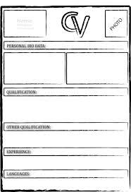 Resume Cover 40 Blank Cv Template To Print Free Printable Photo