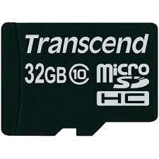 Thẻ nhớ MicroSDHC Transcend Class 10 32GB 30MB/s kèm Adapter