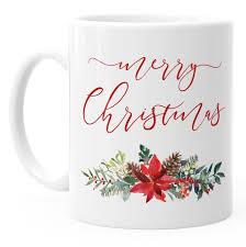 Tasse Weihnachten Merry Christmas Blumen Weihnachtsstern