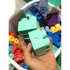 Đồ chơi lắp ghép Lego nhựa dẻo 80 chi tiết ( Từ 1-3 tuổi)