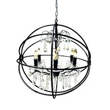 iron orb chandelier black wrought free today foucaults large