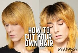 how to cut your own hair during lock