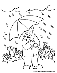 Free Printable Rainy Day Coloring Sheets 34 For Images With Rainy