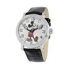 mens disney watches kohl s disney s mickey mouse men s leather watch
