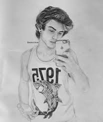 and my 2nd drawing of twins ethan dolan by deannelegrand on deviantart