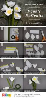 Daffodil Paper Flower Pattern Paper Flower Tutorial Double Daffodils By Lia Griffith Flori De
