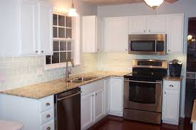 Diy Tile Kitchen Backsplash Kitchen Very Simple Kitchen Feat White Subway Tiles On