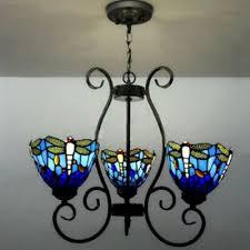 blue glass shade dragongfly pattern 24