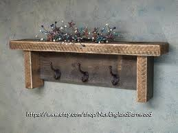Rustic Coat Rack With Shelf Rustic Wall Coat Rack Wood Coat Rack Shelf Rustic Wall Decor Shelf 22