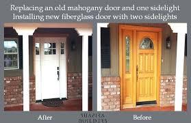 best paint for fiberglass door how to paint a fiberglass door showing the old mahogany door best paint for fiberglass door