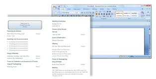 finding templates in word finding the right church bulletin template and editor