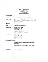 Student Cv Template No Experience High School Student Resume Template No Experience Resume Templates