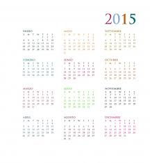 free year calendar 2015 2015 yearly calendar in spanish free stock photo public domain