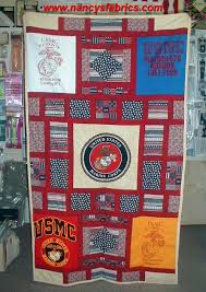 Here is a great quilt made by a customer using her father's old ... & Here is a great quilt made by a customer using her father's old marine t  shrits Adamdwight.com
