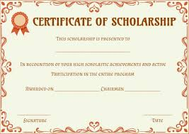 Scholarship Certificate Template Scholarship Certificate Template 11 Professional Templates
