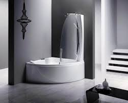corner modern mini bathtub shower combo