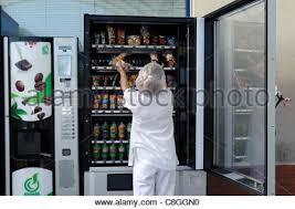 Woman Vending Machine Stunning Woman Restocking Vending Machine Stock Photo 48 Alamy