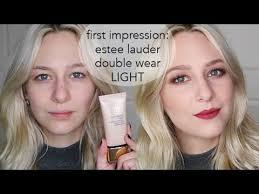 estÉe lauder double wear light first impressions