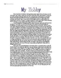 english essay my hobby english essay junior english essays englishdaily626 com