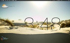 awesome clock sand desktop mac showcase