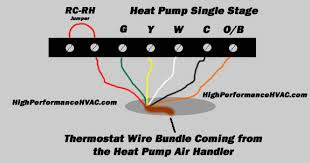 heat pump thermostat wiring chart diagram hvac heating cooling