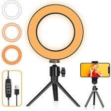 Desk Ring Light Amazon Led Ring Light With Tripod Stand Desk Makeup Light With Cell Phone Holder 6 Inch Dimmable 3 Light Modes 10 Brightness For Streaming Youtube Video