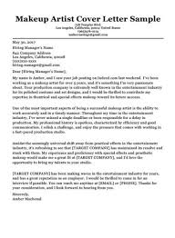 Cover Letter To Former Employer Makeup Artist Cover Letter Sample Resumecompanion