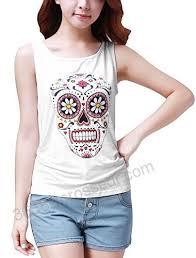 Allegra K Clothing Size Chart Allegra K Women Sleeveless Sugar Skull Tank Top Summer