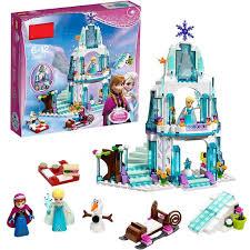 <b>316pcs Dream Princess Elsa's</b> Ice Castle Princess Anna Olaf ...