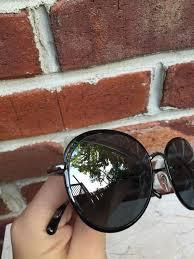 chanel 4206 sunglasses. chanel chanel 4206 353/26 black gunmetal silver mirrored round sunglasses* sunglasses 4