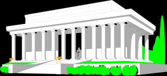 lincoln memorial building clipart. illustration of the lincoln memorial in washington dc free stock photo building clipart m