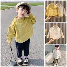 IST41 Size 80-120 (6-21kg) Áo sơ mi bé trai hàn quốc - Dài tay Freeship  Hàng Quảng Châu Thời trang trẻ em