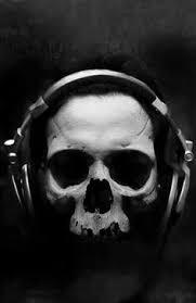 music awesome skull bones black white awesome black white