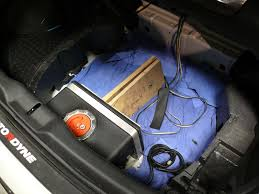 water methanol injection install 350z trunk water methanol tank and