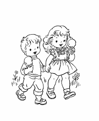 Downloadable coloring sheets for kids. Coloring Pages Boy And Girl Coloring Home