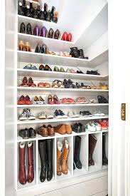 walk in closet with shoe storage and shelves ideas for envy modern bedroom design diy shelving