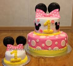 Minnie Mouse First Birthday Cake Coolest Minnie Mouse 1st Birthday