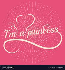 Princess Word Letters With Heart Royalty Free Vector Image